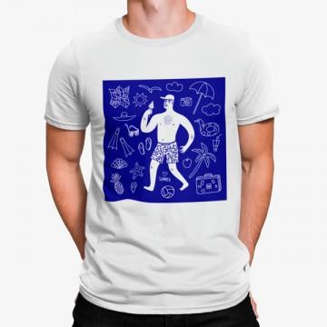 Camiseta Simbolos Playa Hombre