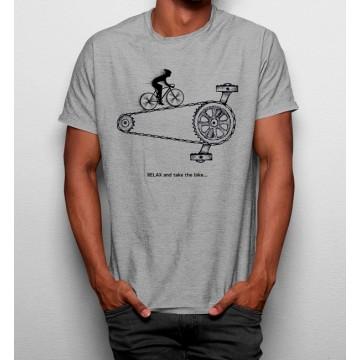 Camiseta Relájate y Toma una Bicicleta