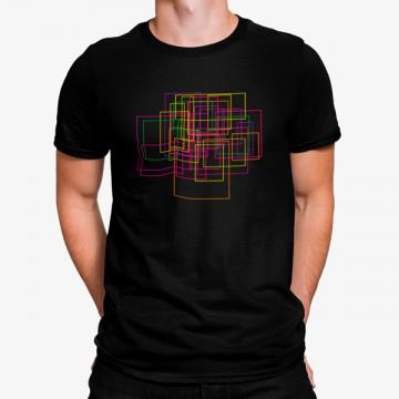 Camiseta Rectángulos Geométricos Néon