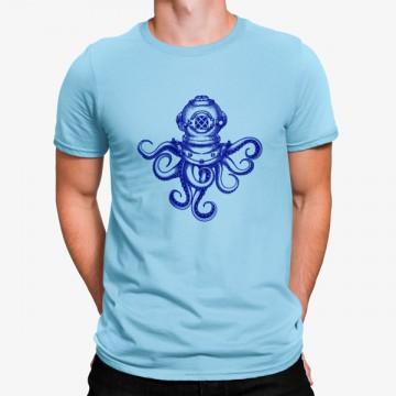 Camiseta Pulpo Buceo Vintage