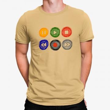 Camiseta Botones Música