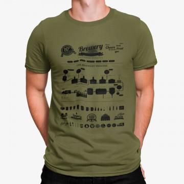 Camiseta El Proceso de la Cerveza