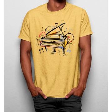 Camiseta Piano Artístico