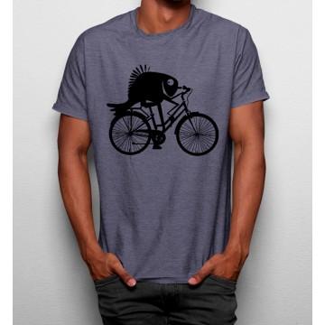 Camiseta Pescado en Bicicleta