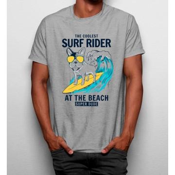 Camiseta Perro Surfista