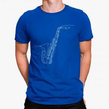 Camiseta Saxofón Minimalista