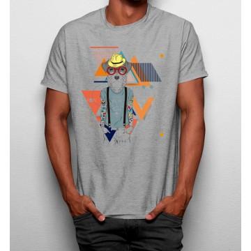 Camiseta Perro Hipster