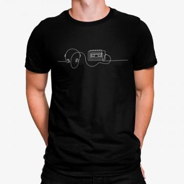 Camiseta Lector de Casetes y Auriculares