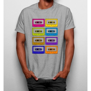Camiseta Casetes Coloridas Anos 90
