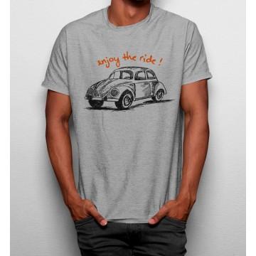 Camiseta Disfruta el Viaje Coche Retro