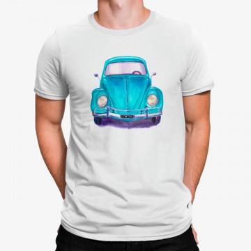 Camiseta Escarabajo Coche Azul