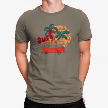 Camiseta Furgoneta Hippie Surf