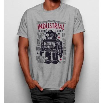 Camiseta Tecnologia Moderna Robot Industrial