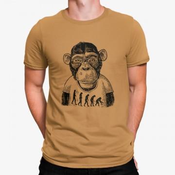 Camiseta Mono Evolución Humana