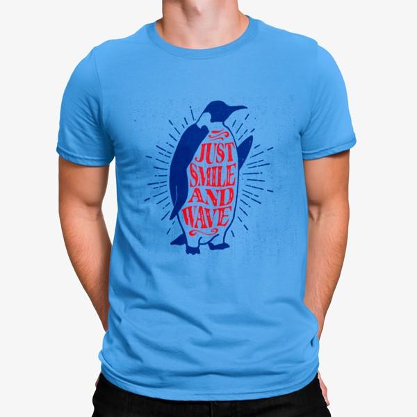 Camiseta Pinguino Saludando