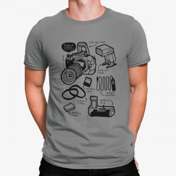 Camiseta Partes Cámara Fotográfica