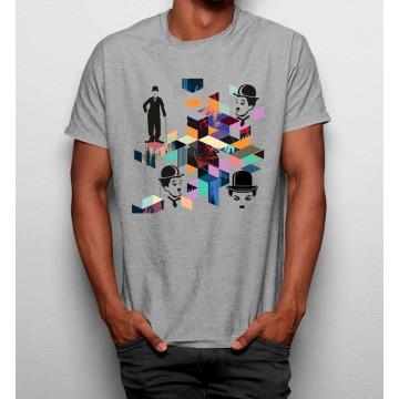 Camiseta Charlie Chaplin Geométrico