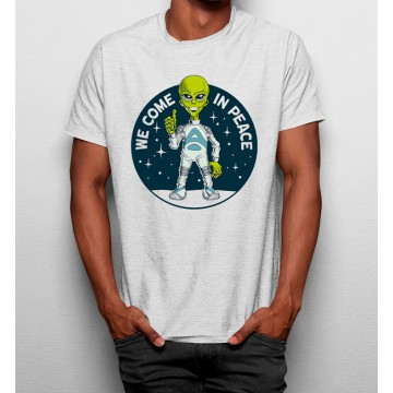 Camiseta Venimos en Paz Aliens