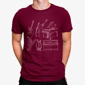 Camiseta Instrumentos Musicales Clásicos