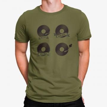 Camiseta Vinilos Retro Música
