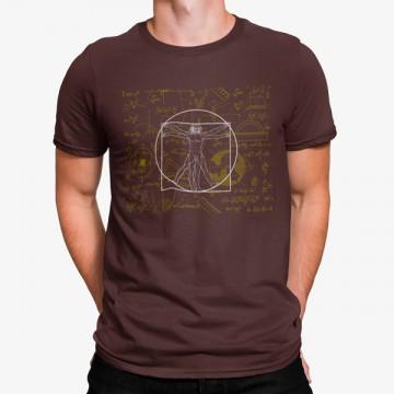 Camiseta Hombre Vitrúvio Leonardo da Vinci